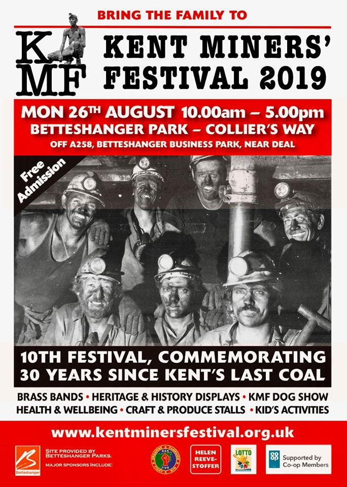 Kent Miners Festival 2019 - POSTER